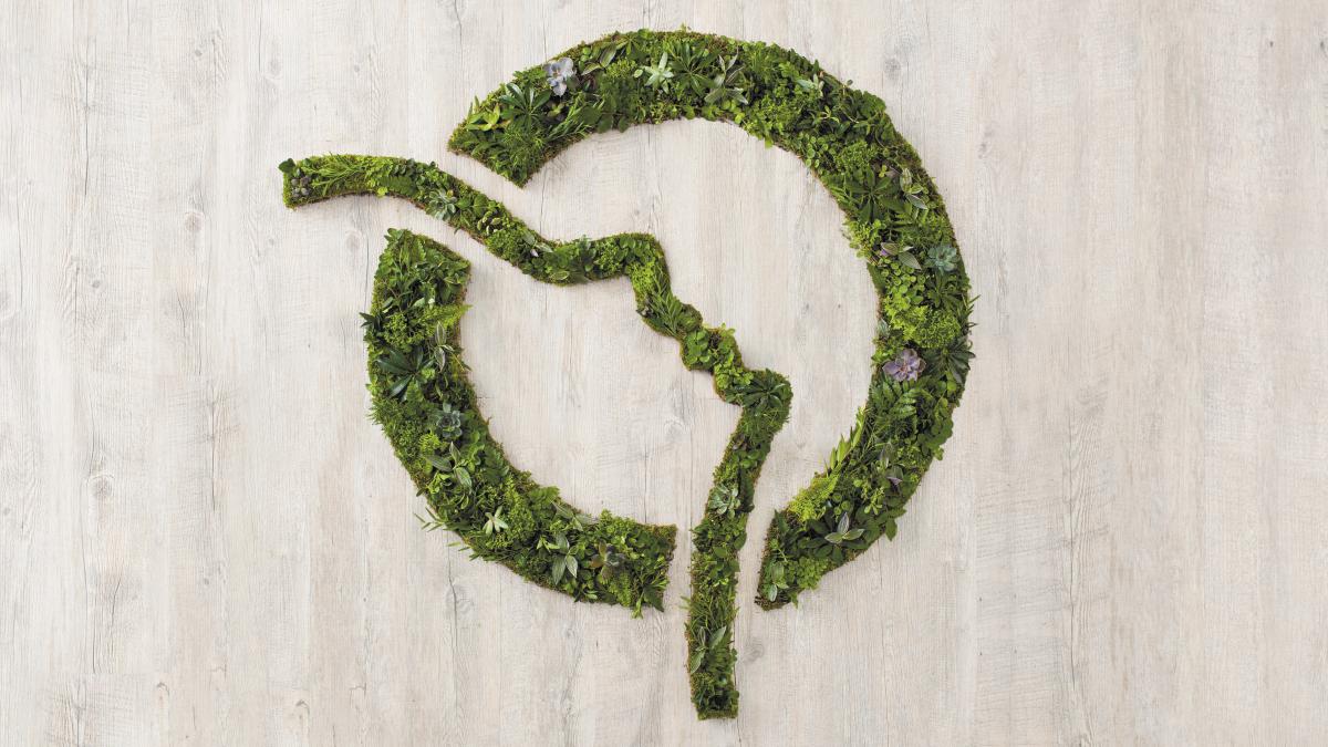 Logo vert, plantes RATP - Designed by Curius