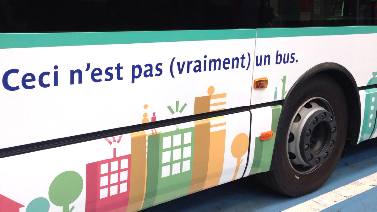 Zoom sur le Pop Up Bus de la RATP - Designed by Curius