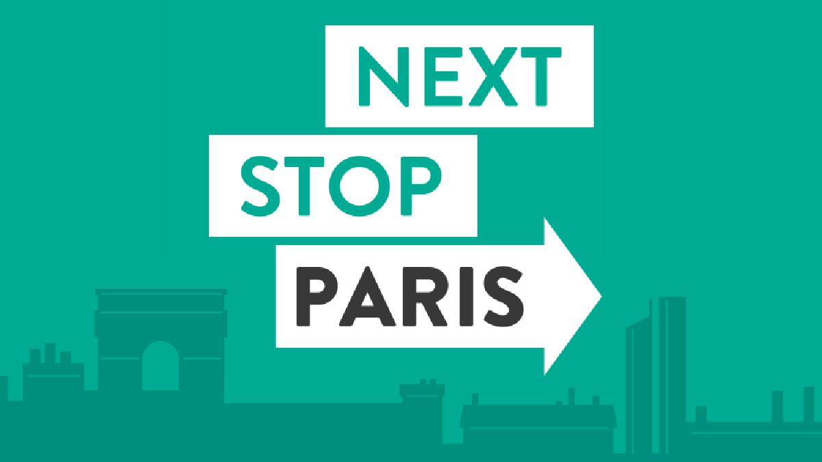 Logo Next Stop Paris, de la RATP - Designed by Curius