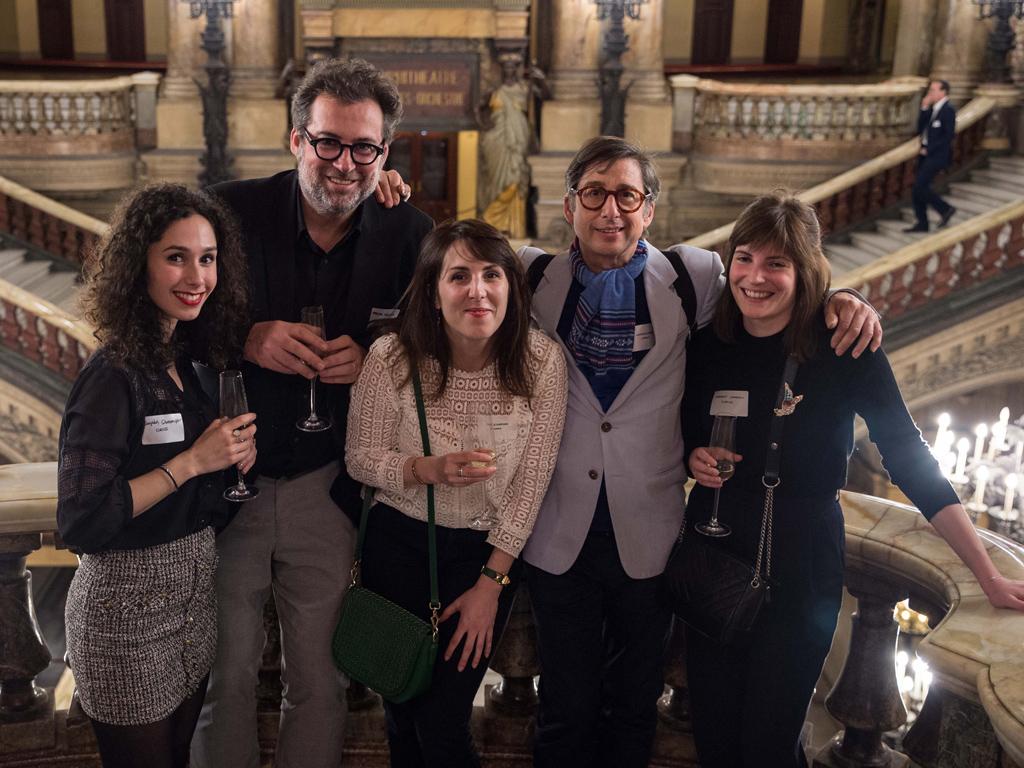 L'équipe Curius au lancement d'Andera Partners à l'Opéra de Paris