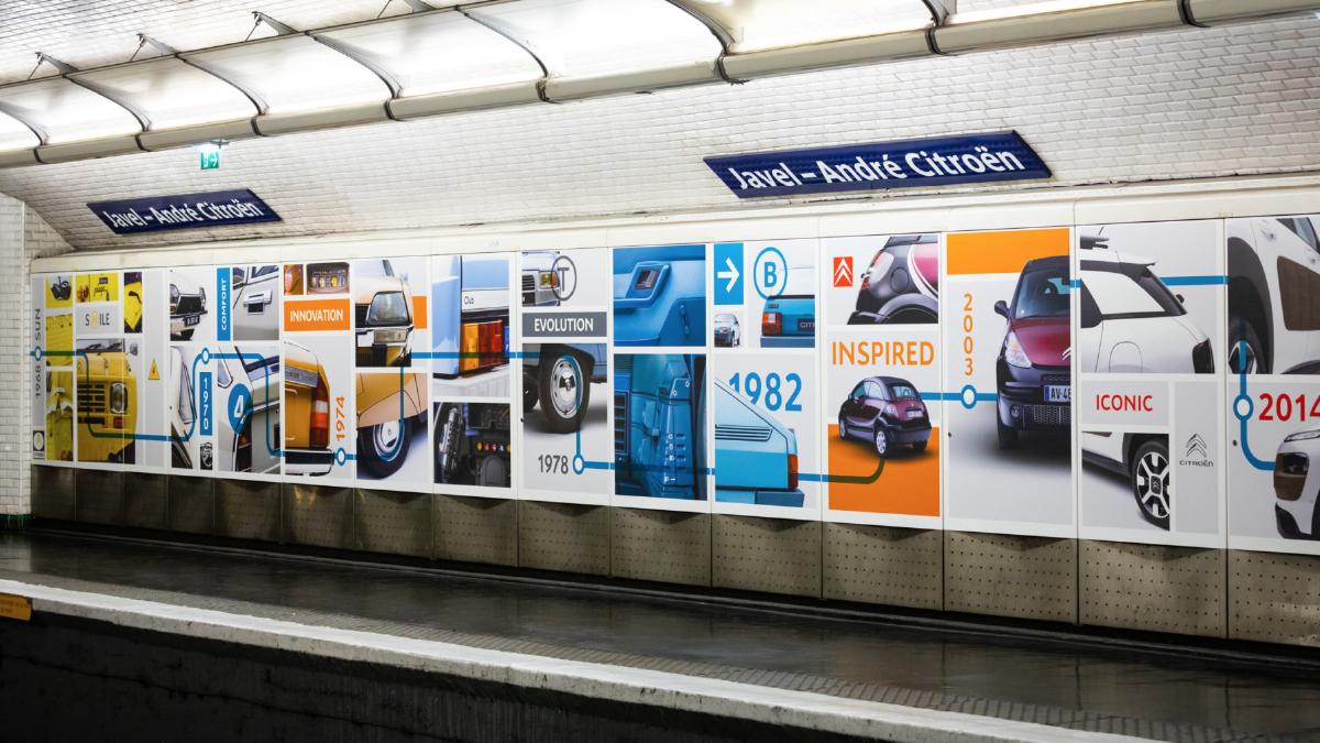 Fresque station métro Javel-Citroën - Designed by Curius