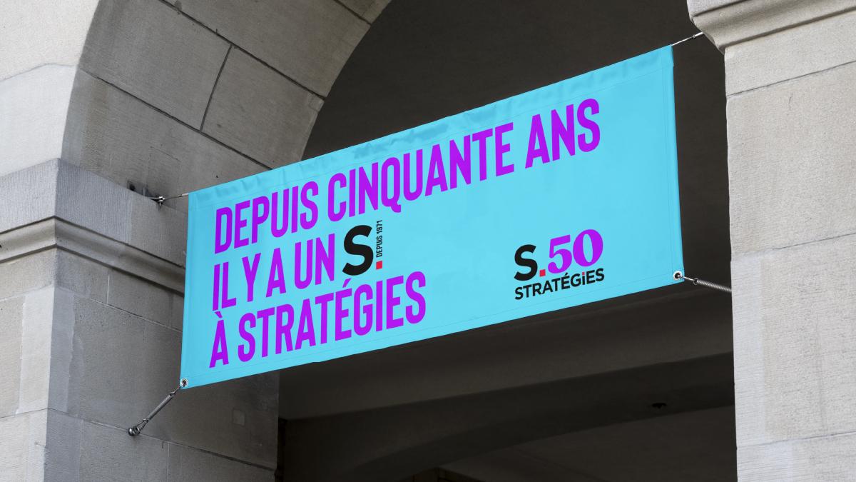 50 ans qu'il y a un S à Stratégies - Designed by Curius
